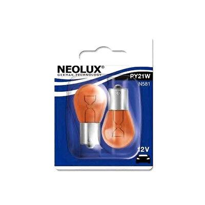 2x Neolux 12V 21W PY21W Glühlampe Glühbirne Kugelbirne Birne Blinker orange O