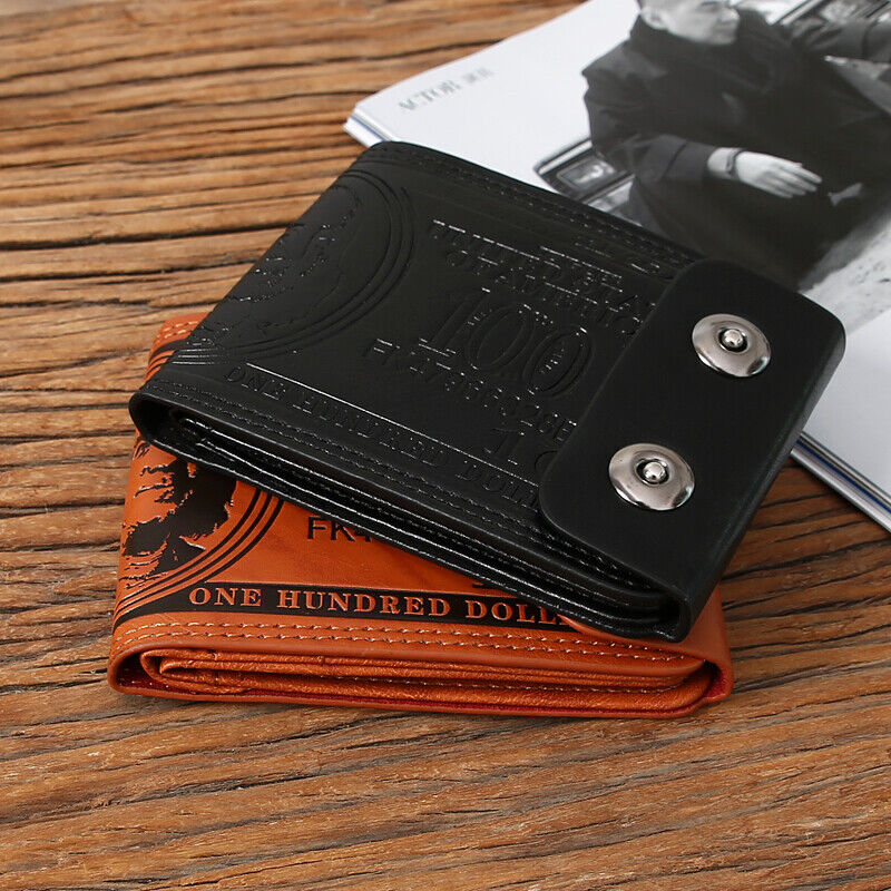 Mens Novelty US 100 Dollar Wallet Bill Money Billfold Purse With Magnetic Buckle Clothing, Shoes & Accessories
