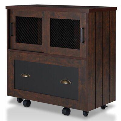Furniture Of America Uri 1 Drawer File Cabinet In Vintage Walnut