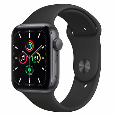 Apple Watch SE (GPS) 44mm Aluminum Case Black Sport Band - Space Gray MYDT2LL/A