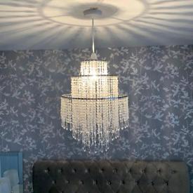 Chandelier Light Shade for Ceiling Pendant Light, Easy Fit Crystal