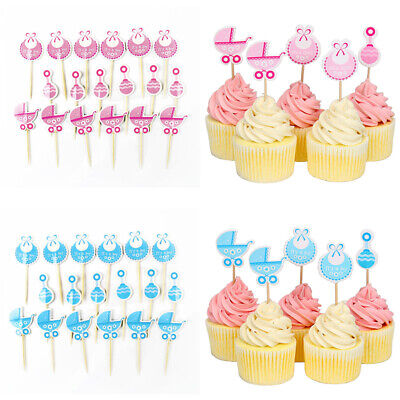 Baby Shower Cupcake Papers (18 Pcs Baby Shower Cupcake Toppers Boy Girl Favors Party Decorations)