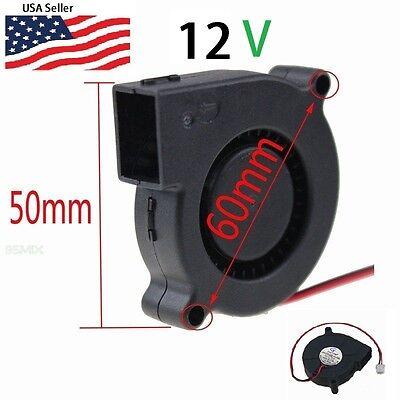 Gdstime 12V DC 50mm Blower Radial Cooling Fan Hotend Extruder RepRap 3D Printer