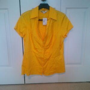 Cleo short sleeve yellow top
