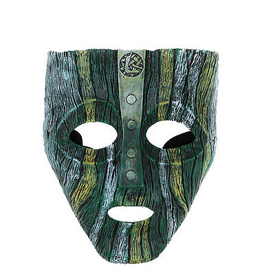 Loki Mask Jim Carrey Film 'The Mask' Green Costume Fancy Dress Halloween - The Mask Halloween Mask