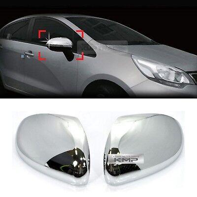 Chrome Side Mirror Cover Molding Trim for KIA 2012-2016 RIO / Hatchback