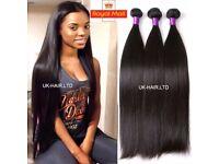 Unprocessed Brazilian Peruvian Virgin Human Hair Bundles Extension Thick 100g Weave E232