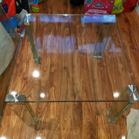 All glass including legs coffee table and side table