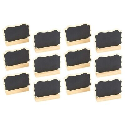 12 Mini Chalkboard Signs Stand Chalkboard Place Cards Message Board I7P8