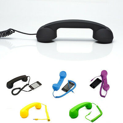 Retro Telephone 3.5mm Handset Phone Receiver For All  Mobile phones Tablet Best