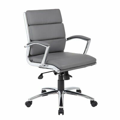 Boss Office Caressoftplus Executive Mid-back Chair In Gray