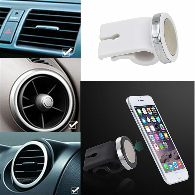 Mini Adjustable Magnetic Car Air Vent Stand Holder Mount Fr Mobile Cellphone CA