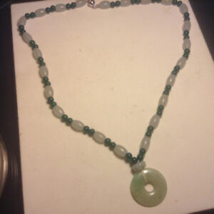 Jade Necklace With Disc
