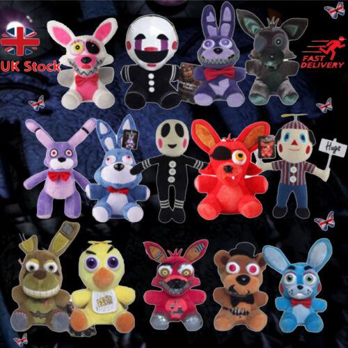 UK Five Nights At Freddy's 4 FNAF Plush Dolls Stuffed Horror Game Teddy Soft Toy