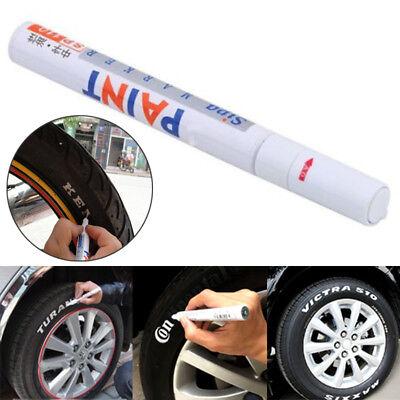 1pcs White Waterproof Car Tyre Tire Tread Rubber Paint Pen Markers Pen Permanent