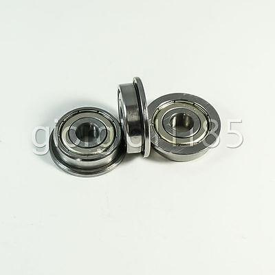 Us Stock 10pcs F605zz Metal Double Shielded Flanged Ball Bearings 5 X 14 X 5mm