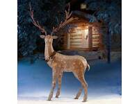 """STUNNING 82"""" HIGH LED REINDEER NEW IN BOX"""