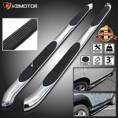 For 2007-2012 Dodge Nitro Chrome Stainless Steel Running Boards Side Step Bars