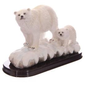 Polar Bear with Cub Figurine