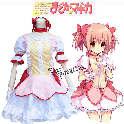 Puella Magi Madoka Magica Kaname Madoka Cosplay Anime Kostüm Lolita Kleid Rosa - Madoka Magica Cosplay Kostüm