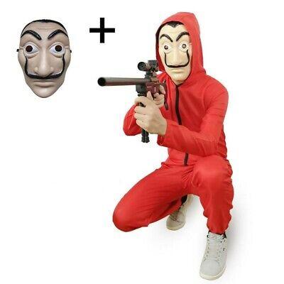 Kostüm Bankräuber und Maske Dali La Haus aus Papier Karneval - Bankräuber Maske Kostüm