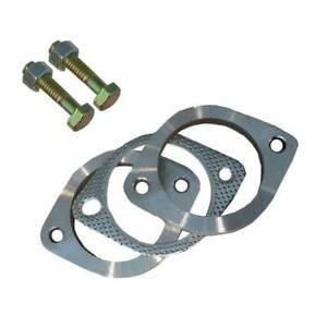 2.5& Generic Stainless Steel Exhaust Flange Plate Set Kits 63MM Silverwater Auburn Area Preview
