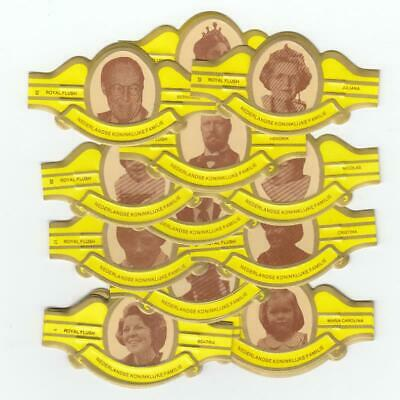 25 cigar bands Rf Dutch Royal Family yellow iss in 1980