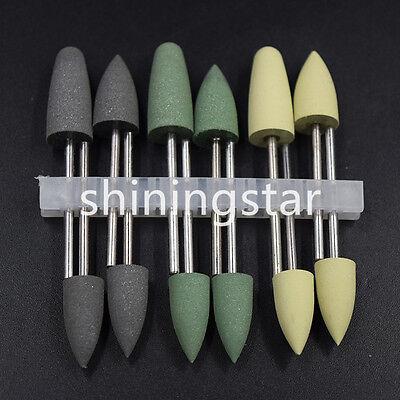 Dental Silicone Base Acrylic Polishers Resin Polishing Burs 2.35mm 12pcs1set