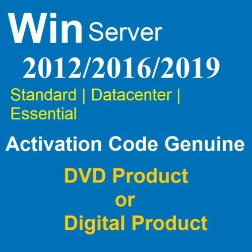 DVD:(CODE) TO ACTIVATION FOR VERSION STANDARD/DATACENTER/ESSENTIAL OF WIN SERVER