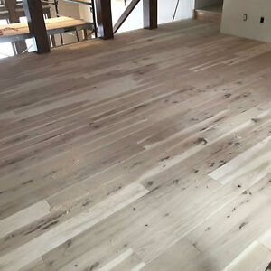 WIDE PLANK UNFINISHED HICKORY/WHITEOAK FLOORING