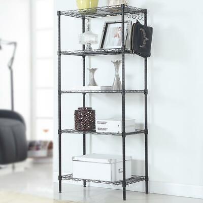 5 Layers Wire Shelves Unit Adjustable Metal Shelf Rack Kitchen Storage Organizer