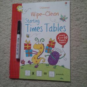 usborne wipe clean books