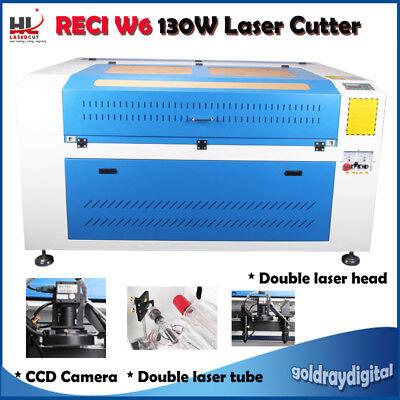 Reci 130w Co2 Laser Engraver Cutting Machine Ccd Camera Double Head Laser Tube