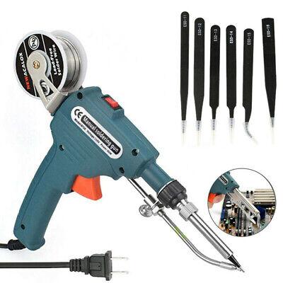 Manual Soldering Gun Electric Iron Auto Machine Kit 60w 110-220v Repair Tool