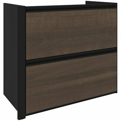 Bestar Connexion 2 Drawer Add On Lateral File Cabinet In Antigua And Black