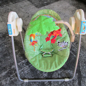 FISHER PRICE RAIN FOREST PORTABLE SWING