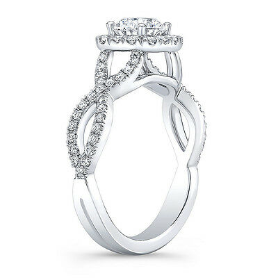 1.30 ct. Brand New Cushion Cut Infinity Style Halo Engagement Ring GIA Certified 1