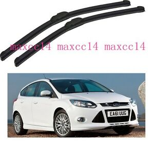 car windscreen window windshield wiper blades for ford focus 2012 2014 28 28 ebay. Black Bedroom Furniture Sets. Home Design Ideas