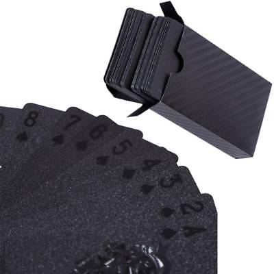 1 Pack Black Playing Poker Cards Plastic Waterproof Table Decks Card Games Deck](Playing Cards Games)