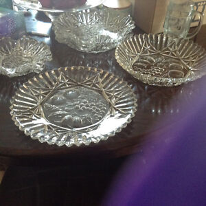 Vintage glass dishes. Mint condition