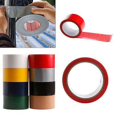 10M x 50mm Waterproof Sticky Adhesive Cloth Duct Tape Roll Craft Repair 8 Color - Colored Duct Tape