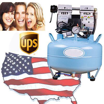 Usa Medical Noiseless Oilless Air Compressor 8mpa For Dental Chair 34hp Fda