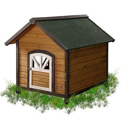 - Designer High Quality A-Frame Wooden Doggie Den Real Wood Dog House Sizes S M L