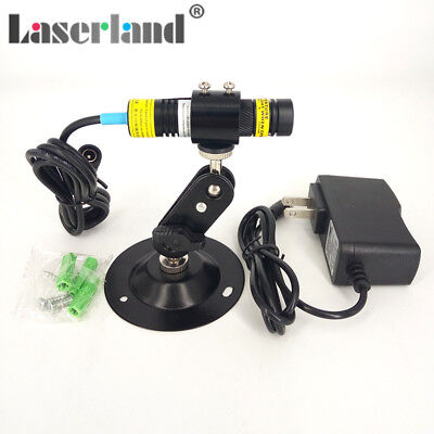 16x68mm 830nm 300mw Ir Infrared Focusable Dot Diode Laser Module W Adapter Mount