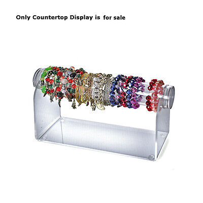 Acrylic Horizontal Countertop Bracelet Display In Clear 12d X 5.5h Inches