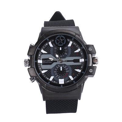 Super HD 2304X1296 motion detection H.264 Spy Watch Camera  32G Leather Strap 2K
