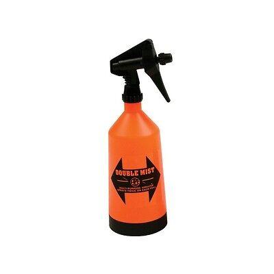 Double Mist Sprayer Bottles Wide Base Adjustable Nozzle 1 Liter
