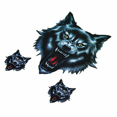 Decal Sticker Wolf Head Motorbike Weatherproof Sports Car Decorative ATV Cool US