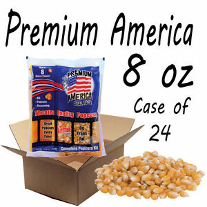 PREMIUM AMERICA THEATRE QUALITY POPCORN PACKS 8OZ CASE OF 24 -
