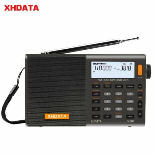 XHDATA D-808 Shortwave Radio LW MW SW  SSB AIR RDS Receiver U. S. ship